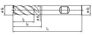 technische Zeichnung Trochoidalfräser ST